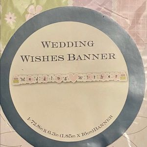 """Other - 🇺🇸 Brand New """"Wedding Wishes"""" 6ft Banner"""